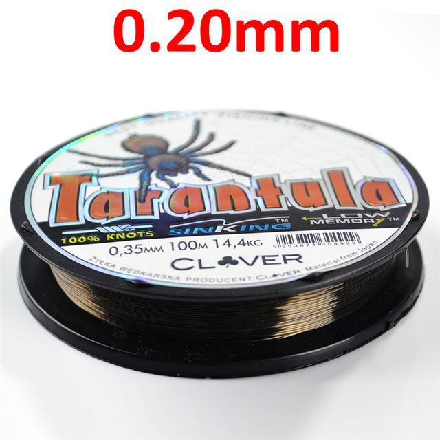 Fish King 100M 8Lb-60Lb Bass Carp Fishing Line Wear Resisting Nylon Fishing Line-FISH KING Official Store-Tarantula Grey 100m3-Bargain Bait Box