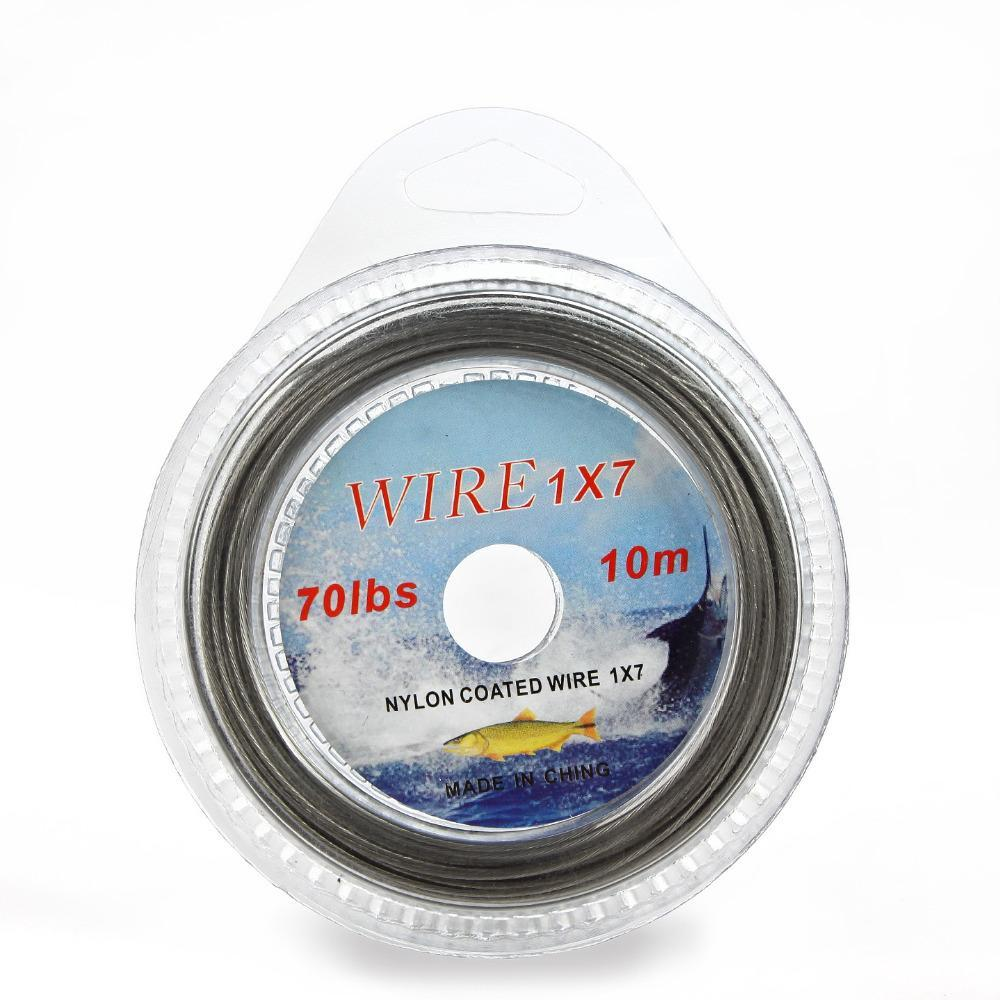 Fish King 10M Nylon Coated Wire Fishing Line Max Power 7 Strands Super Soft Wire-FISH KING First franchised Store-10LBS-Bargain Bait Box
