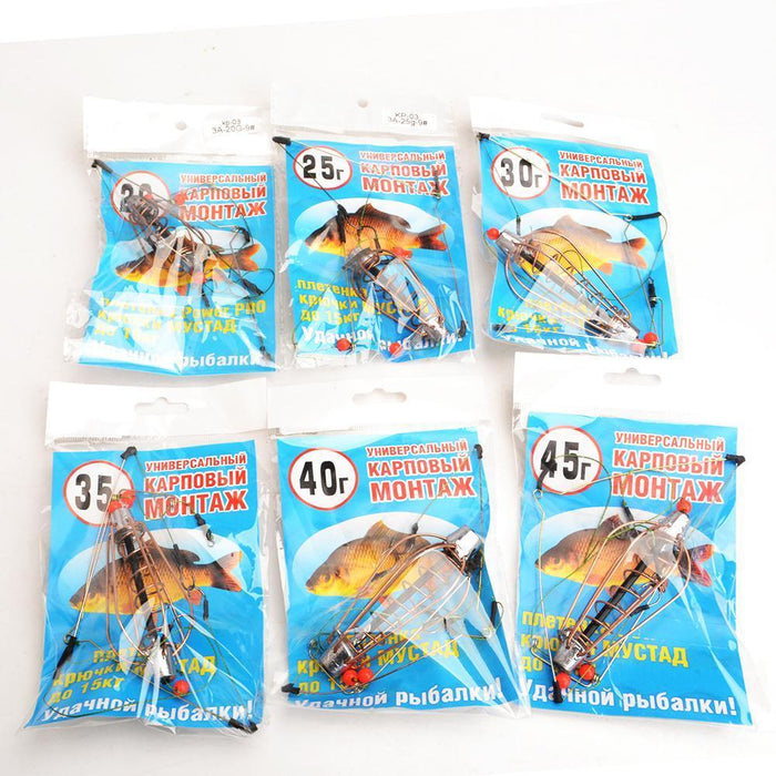 Fish King 1Pc Length 38Cm Three Hooks Carp Fishking Group Bait Cage Feeder-FISH KING First franchised Store-20G-Bargain Bait Box