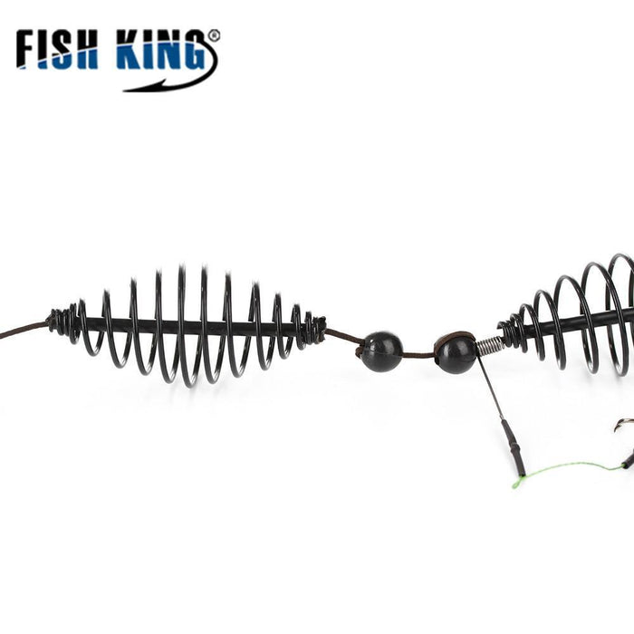 Fish King 1Pc Length 62Cm Two Hooks Cage Bait Lure Copper Trap Basket Feeder-FISH KING First franchised Store-15G-Bargain Bait Box