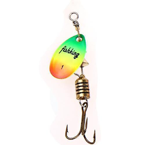 Fish King 1Pc Size0-Size5 Fishing Lure Pesca Mepps Spinner Bait Spoon Lures With-FISH KING First franchised Store-Multi Size1-Bargain Bait Box
