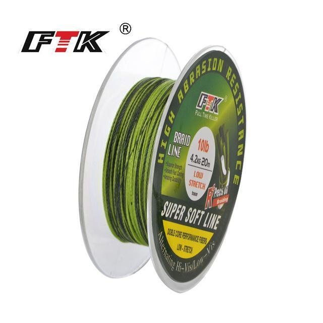 Fish King 20M Pe Braided Fishing Line Ice Fishing 4 Stands 8Lb- 28Lb-FISH KING First franchised Store-blackandgreen-0.1-Bargain Bait Box