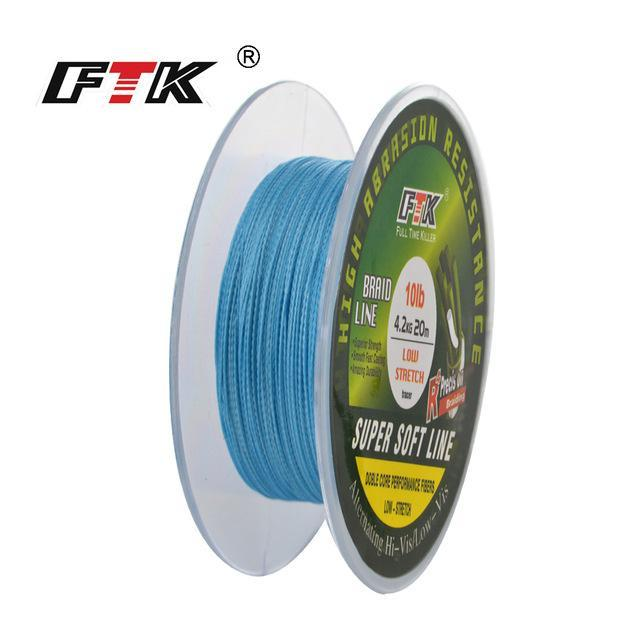 Fish King 20M Pe Braided Fishing Line Ice Fishing 4 Stands 8Lb- 28Lb-FISH KING First franchised Store-blue-0.1-Bargain Bait Box
