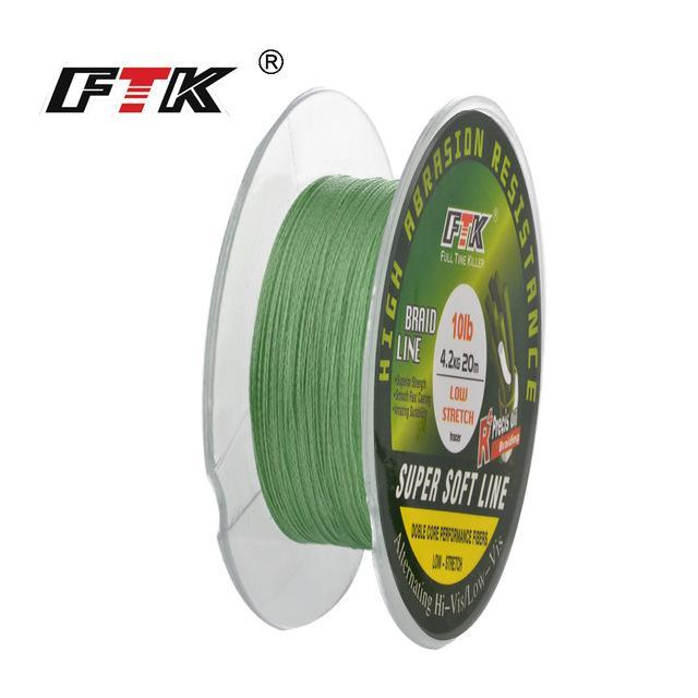 Fish King 20M Pe Braided Fishing Line Ice Fishing 4 Stands 8Lb- 28Lb-FISH KING First franchised Store-dark green-0.1-Bargain Bait Box