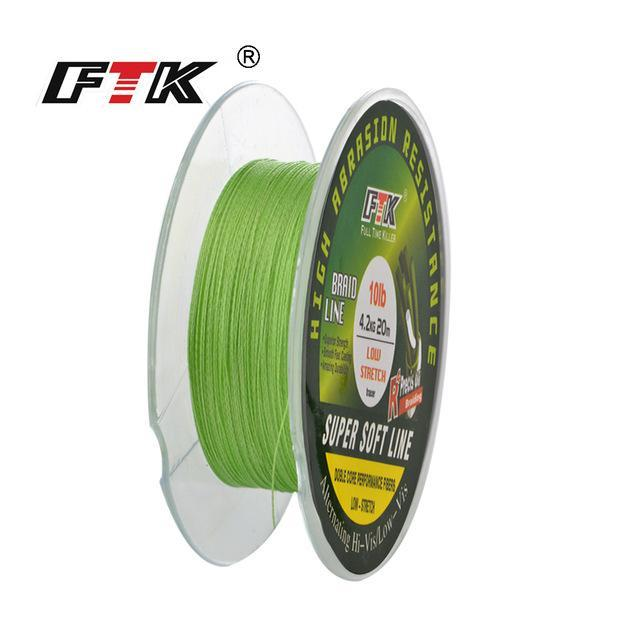 Fish King 20M Pe Braided Fishing Line Ice Fishing 4 Stands 8Lb- 28Lb-FISH KING First franchised Store-light green-0.1-Bargain Bait Box