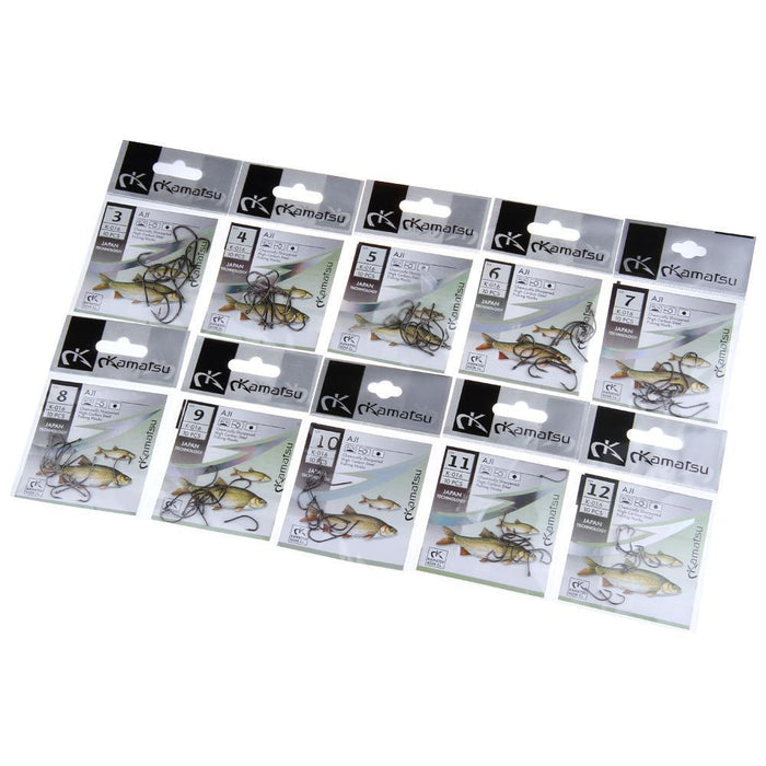 Fish King 50 Pcs/Lot 3#-12# Aji Carbon Steel Fishing Hook Fishhooks Durable-FISH KING First franchised Store-10-Bargain Bait Box