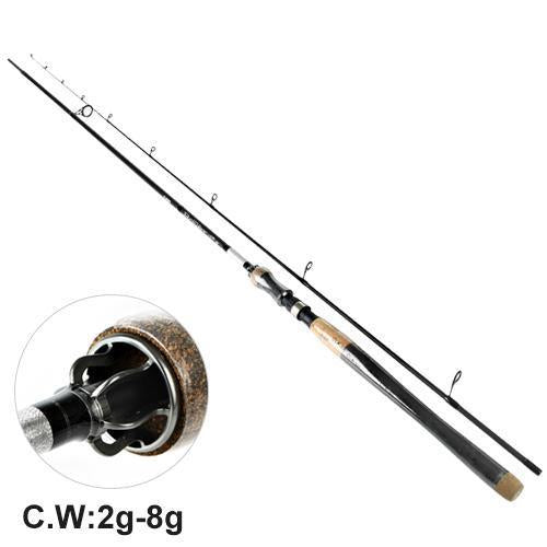 Fish King Hi Carbon 5 Color 2.1M-2.7M 2 Section Soft Lure Fishing Rod Lure-Spinning Rods-FISH KING Official Store-Black-2.1 m-Bargain Bait Box