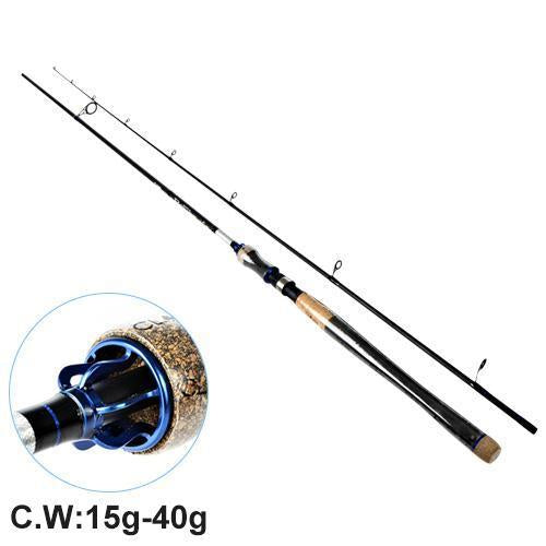 Fish King Hi Carbon 5 Color 2.1M-2.7M 2 Section Soft Lure Fishing Rod Lure-Spinning Rods-FISH KING Official Store-Blue-2.1 m-Bargain Bait Box