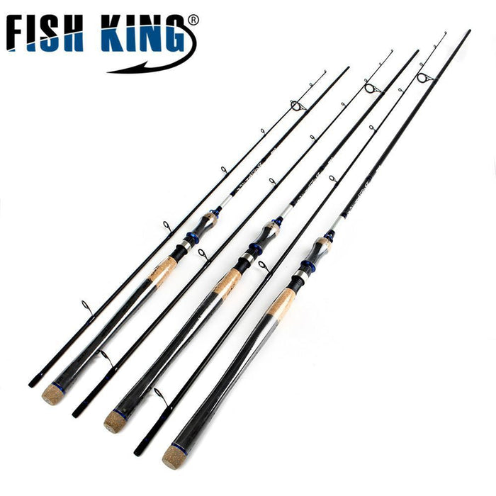 Fish King Hi Carbon 5 Color 2.1M-2.7M 2 Section Soft Lure Fishing Rod Lure-Spinning Rods-FISH KING Official Store-Yellow-2.1 m-Bargain Bait Box