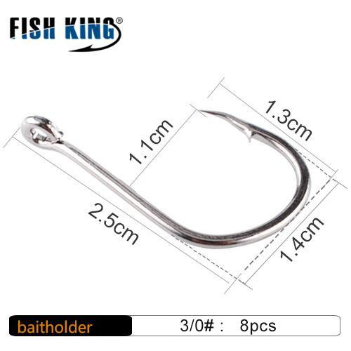 Fish King High Iesema Carbon Steel 1 Pack 1# 2# 4# 6# 8# 10# 10Pcs 1/0# 2/0#-FISH KING First franchised Store-13-Bargain Bait Box