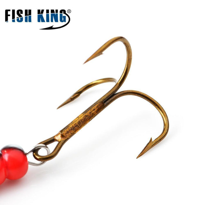Fish King Mepps 1#-5# 4Pcs/Lot Spinner Bait Spoon Lures With Mustad Treble Hooks-FISH KING First franchised Store-SIZE 1-Bargain Bait Box