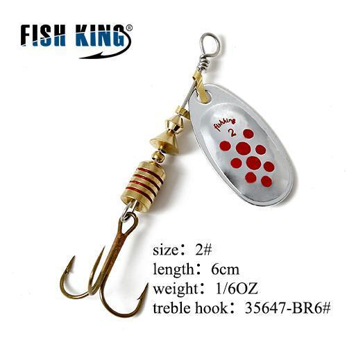 Fish King Mepps 1Pc 1# 2# 3# 4# 5# Fishing Lure Bass Hard Baits Spoon With-FISH KING Official Store-Clear-Bargain Bait Box
