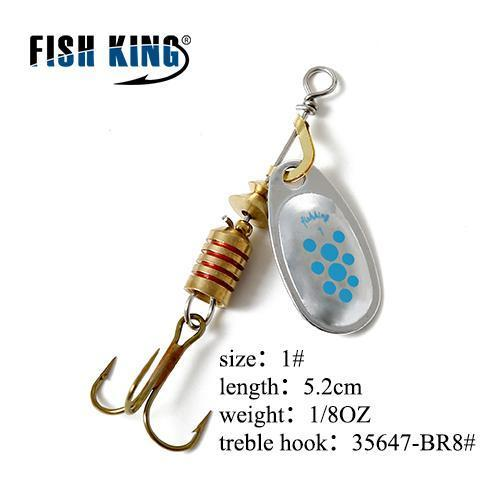 Fish King Mepps 1Pc 1# 2# 3# 4# 5# Fishing Lure Bass Hard Baits Spoon With-FISH KING Official Store-Pink-Bargain Bait Box