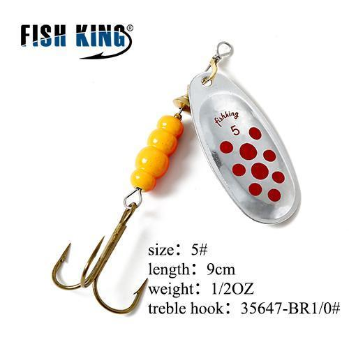 Fish King Mepps 1Pc 1# 2# 3# 4# 5# Fishing Lure Bass Hard Baits Spoon With-FISH KING Official Store-Violet-Bargain Bait Box