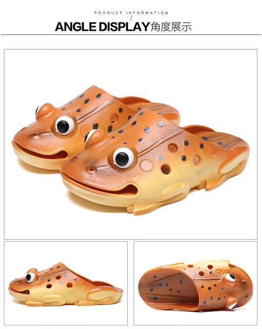 Fish Slippers Men Summer Flip Flops Personality Funny Beach Sandals-Catching Store-1-4-Bargain Bait Box