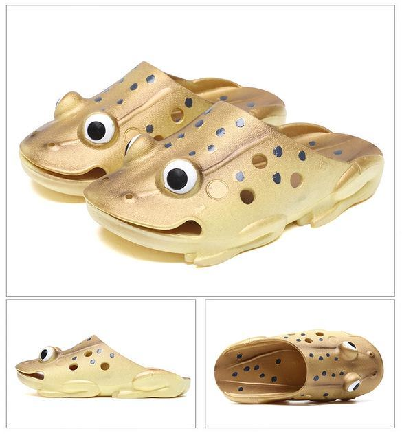 Fish Slippers Men Summer Flip Flops Personality Funny Beach Sandals-Catching Store-3-4-Bargain Bait Box