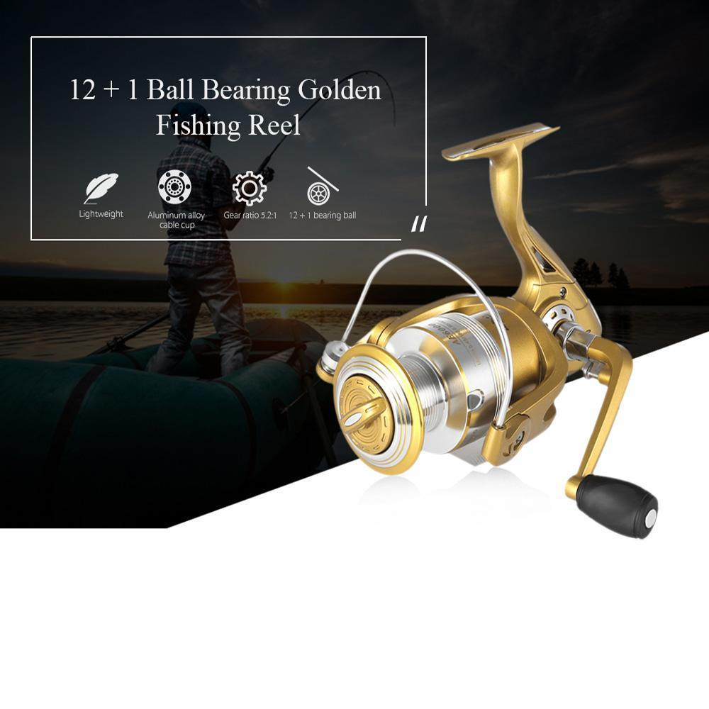 Fishdrops 12 + 1Bb 1000 - 6000 Series Fly Fishing Reel With Left Right-Spinning Reels-Monka Outdoor Store-1000 Series-Bargain Bait Box