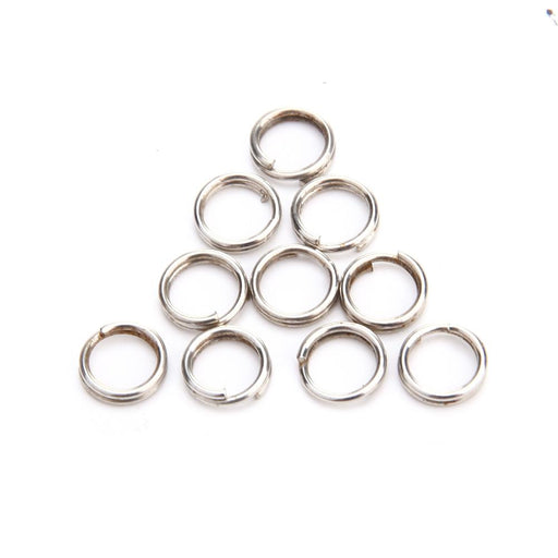 Fishing 100Pcs/Lot Split Rings For Blank Lures Crank Bait Hard Spoon Tools Loop-Fishing Split Rings-Bargain Bait Box-0 point 5 x 4mm-Bargain Bait Box