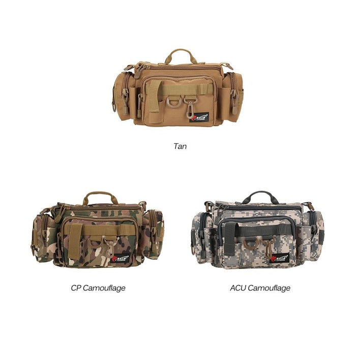 Fishing Bag Polyester Waist Shoulder Fishing Lure Reel Tackle Bags Bait Box-Fishing Bags-Enjoy Sports^_^-ACU-Bargain Bait Box