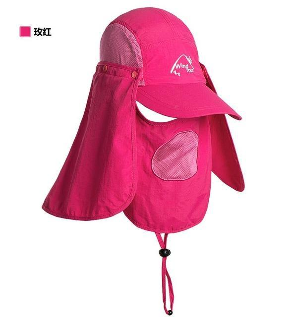 Fishing Cap Women Hats Casquette Sun Hat Visor Camping Riding Cap Bucket Hat-Hats-Bargain Bait Box-Mei Pink-M-Bargain Bait Box