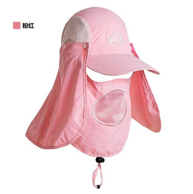 Fishing Cap Women Hats Casquette Sun Hat Visor Camping Riding Cap Bucket Hat-Hats-Bargain Bait Box-Pink-M-Bargain Bait Box