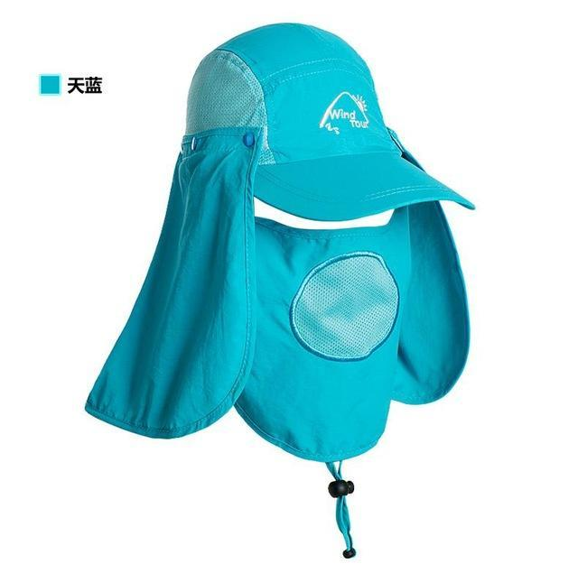 Fishing Cap Women Hats Casquette Sun Hat Visor Camping Riding Cap Bucket Hat-Hats-Bargain Bait Box-Sky Blue-M-Bargain Bait Box
