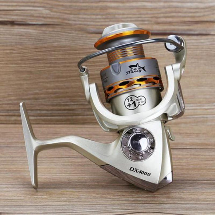 Fishing Coil Wooden Handshake 12+ 1Bb Spinning Fishing Reel Professional-Spinning Reels-Sports fishing products-1000 Series-Bargain Bait Box