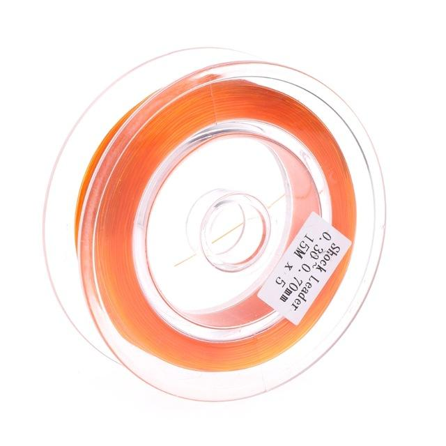 Fishing Fly Line Support Braided Sinking Shock Leader Line Abrasion Resistant-Shop2986021 Store-Orange-Bargain Bait Box