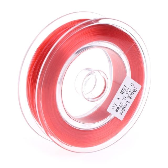 Fishing Fly Line Support Braided Sinking Shock Leader Line Abrasion Resistant-Shop2986021 Store-Red-Bargain Bait Box