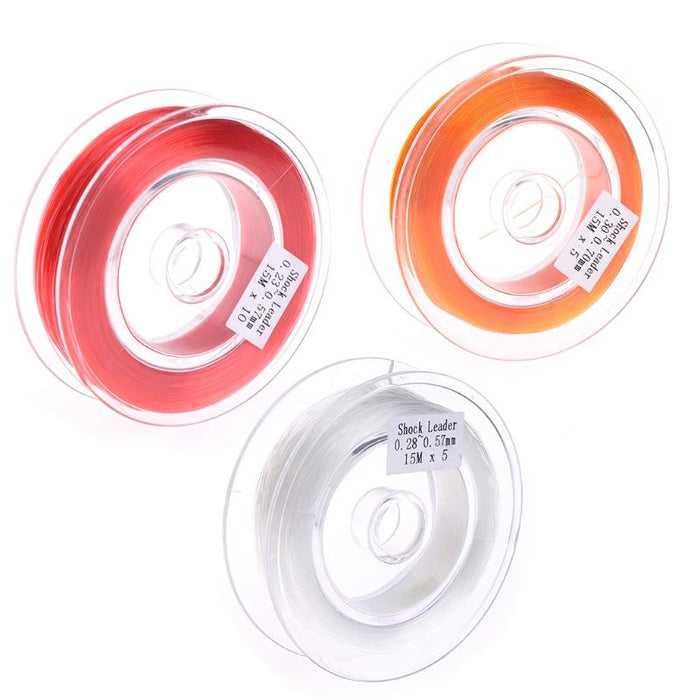 Fishing Fly Line Support Braided Sinking Shock Leader Line Abrasion Resistant-Shop2986021 Store-White-Bargain Bait Box