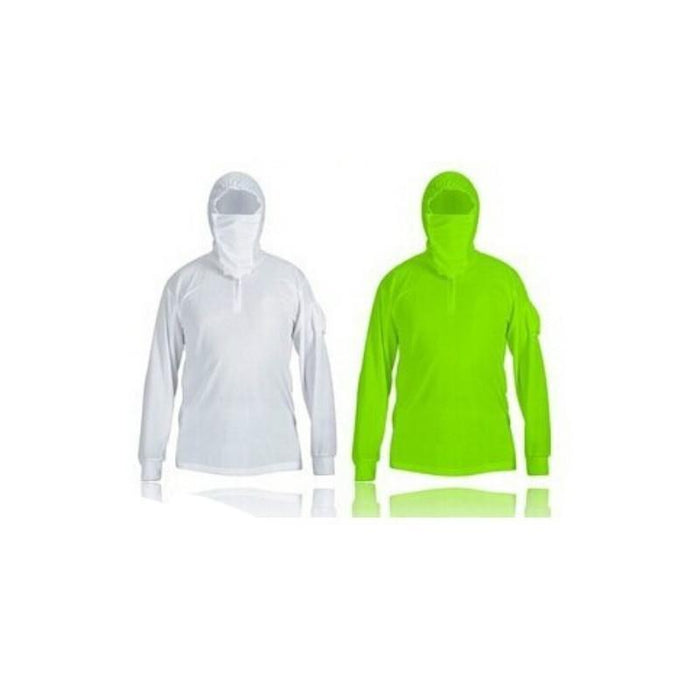 Fishing For Men Women Long-Sleeve Breathable Anti-Uv Sun Unisex Hat Mask-Hoodies-Bargain Bait Box-XL-White-Bargain Bait Box