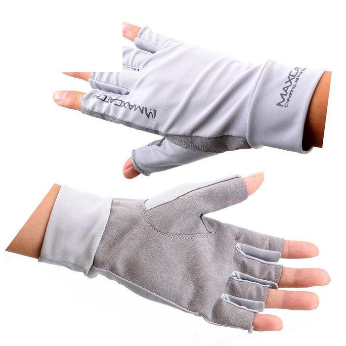 Fishing Gloves Anti-Uv Sun Protection Half Finger 50+ Upf-Gloves-Bargain Bait Box-XL-Bargain Bait Box