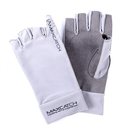 Fishing Gloves Anti-Uv Sun Protection Half Finger 50+ Upf L&Xl Size-Gloves-Bargain Bait Box-L-Bargain Bait Box
