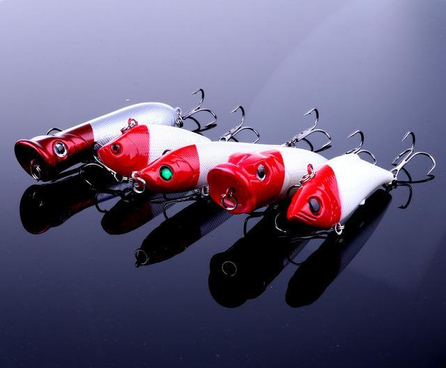 Fishing Kit Lure Hard Minnow Crank Pencil Popper Fog 5Pcs Fishing Bait With-Hard Bait Kits-Bargain Bait Box-Section one-Bargain Bait Box