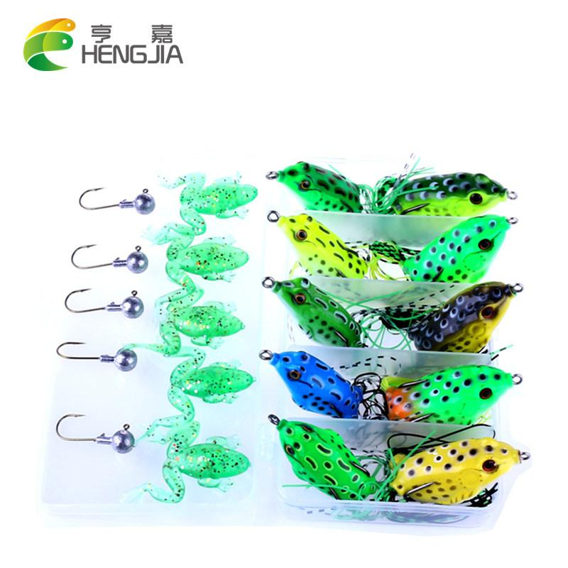 Fishing Kit Soft Frog Fishing With Jig Head Hook Set Bass Fishing S-Soft Bait Kits-Bargain Bait Box-Bargain Bait Box
