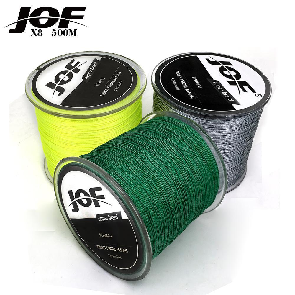 Fishing Line 8 Strands Pe Braided 500 Meters Multifilament Fishing Line-HD Outdoor Equipment Store-White-1.0-Bargain Bait Box