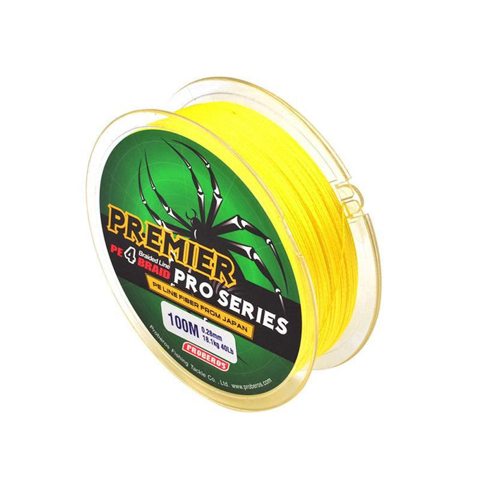 Fishing Lines 100M 10-80Lb Super Strong Dyneema Spectra Extreme Sea Braided-Profession Accessories Store-Yellow-0.8-Bargain Bait Box