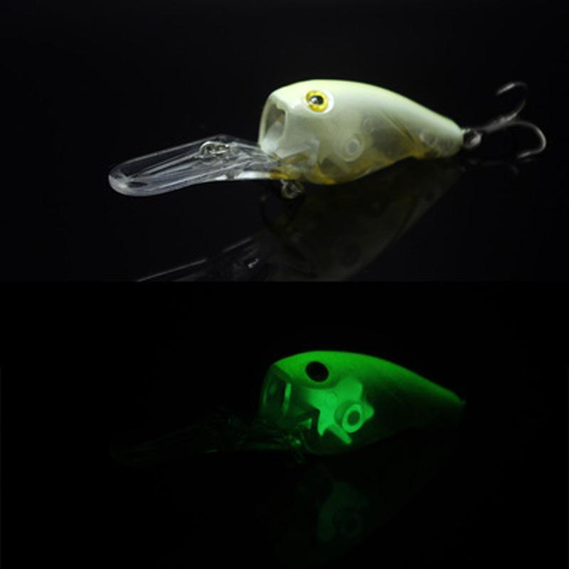 Fishing Long S Glow Lure Crank Bait 95Mm 11G Deep Dive Plate Hard Lure Mustad-Glow Baits-Bargain Bait Box-Black Yellow-Bargain Bait Box