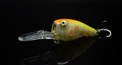 Fishing Long S Glow Lure Crank Bait 95Mm 11G Deep Dive Plate Hard Lure Mustad-Glow Baits-Bargain Bait Box-Orange Yellow-Bargain Bait Box