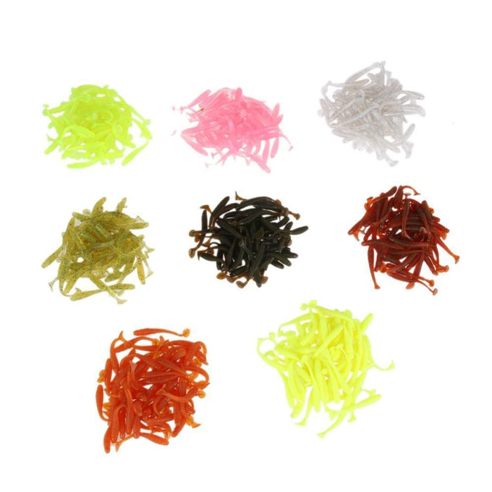 Fishing Lure 35-50Pcs/Set Spoon Soft Worm Jigging Lure With 10Lead Jig Head-easygoing4-style A-Bargain Bait Box