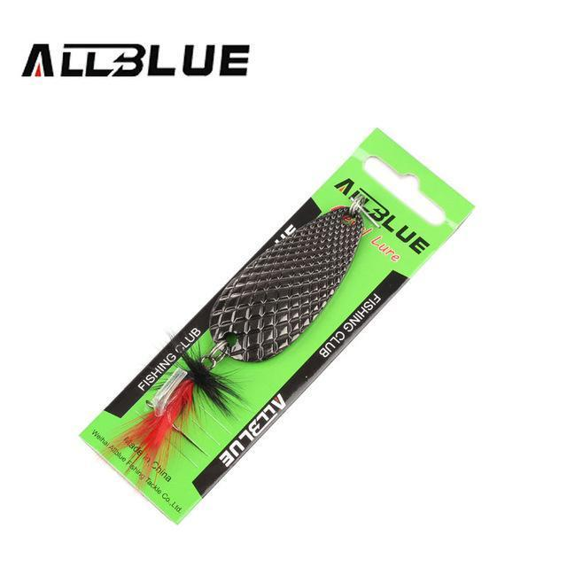 Fishing Lure Allblue Spoon Bait 24G 6Cm Artificial Lures Spinner Lure Metal Bait-allblue Official Store-Black-Bargain Bait Box