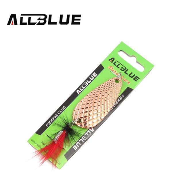 Fishing Lure Allblue Spoon Bait 24G 6Cm Artificial Lures Spinner Lure Metal Bait-allblue Official Store-Copper-Bargain Bait Box