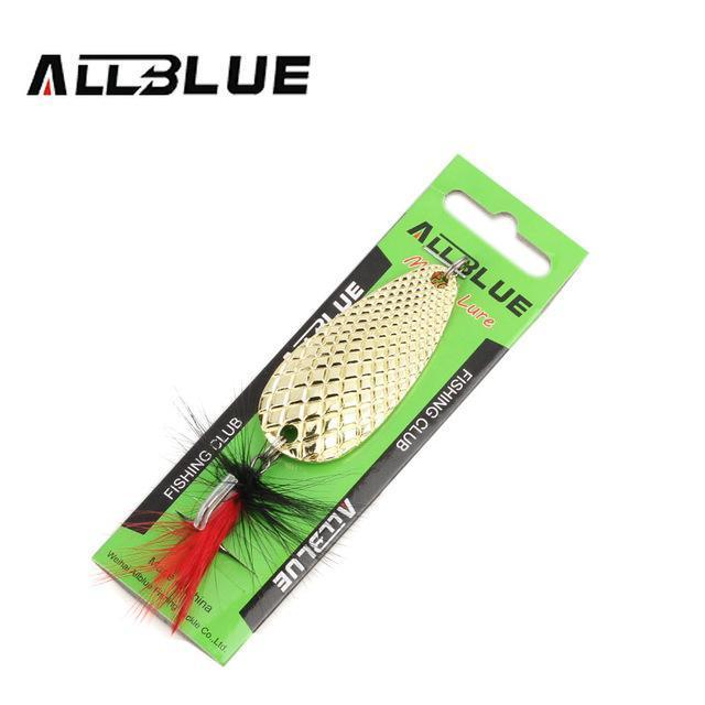 Fishing Lure Allblue Spoon Bait 24G 6Cm Artificial Lures Spinner Lure Metal Bait-allblue Official Store-Golden-Bargain Bait Box