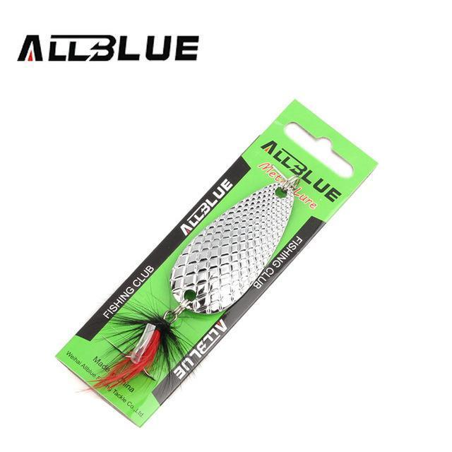 Fishing Lure Allblue Spoon Bait 24G 6Cm Artificial Lures Spinner Lure Metal Bait-allblue Official Store-Silver-Bargain Bait Box