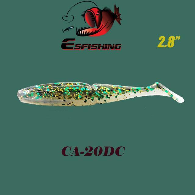 "Fishing Lures Soft Lure 6Pcs Esfishing Easy Shiner 2.8""Pesca Leurre Souple-Esfishing Lure Store-CA20DC-Bargain Bait Box"
