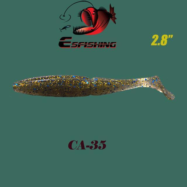 "Fishing Lures Soft Lure 6Pcs Esfishing Easy Shiner 2.8""Pesca Leurre Souple-Esfishing Lure Store-CA35-Bargain Bait Box"