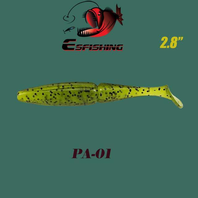 "Fishing Lures Soft Lure 6Pcs Esfishing Easy Shiner 2.8""Pesca Leurre Souple-Esfishing Lure Store-PA01-Bargain Bait Box"