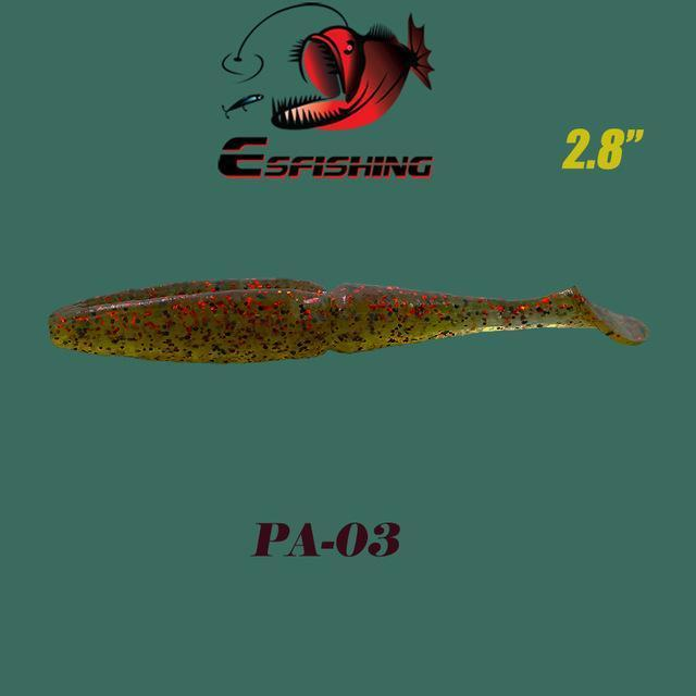 "Fishing Lures Soft Lure 6Pcs Esfishing Easy Shiner 2.8""Pesca Leurre Souple-Esfishing Lure Store-PA03-Bargain Bait Box"