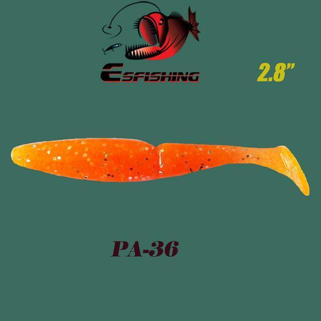 "Fishing Lures Soft Lure 6Pcs Esfishing Easy Shiner 2.8""Pesca Leurre Souple-Esfishing Lure Store-PA36-Bargain Bait Box"