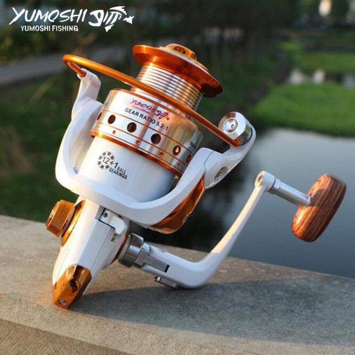 Fishing Pesca Fishing Reel Spinning Wheel Left/Right Interchangeable Metal Spool-Spinning Reels-HUDA Sky Outdoor Equipment Store-1000 Series-Bargain Bait Box